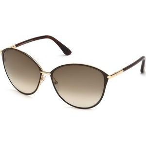 Tom Ford® Women's Penelope Sunglasses (Shiny Rose Gold/Brown)