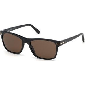 Tom Ford® Unisex Guilio Sunglasses (Shiny Black/Brown)
