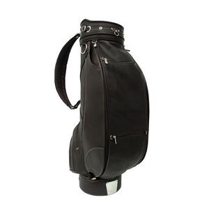 "Deluxe 9"" Leather Golf Bag"
